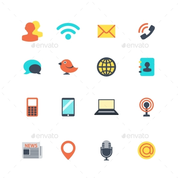 GraphicRiver Communication Icons 10083201