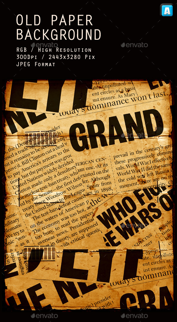 GraphicRiver Old Paper Collage Texture 0012 10083787