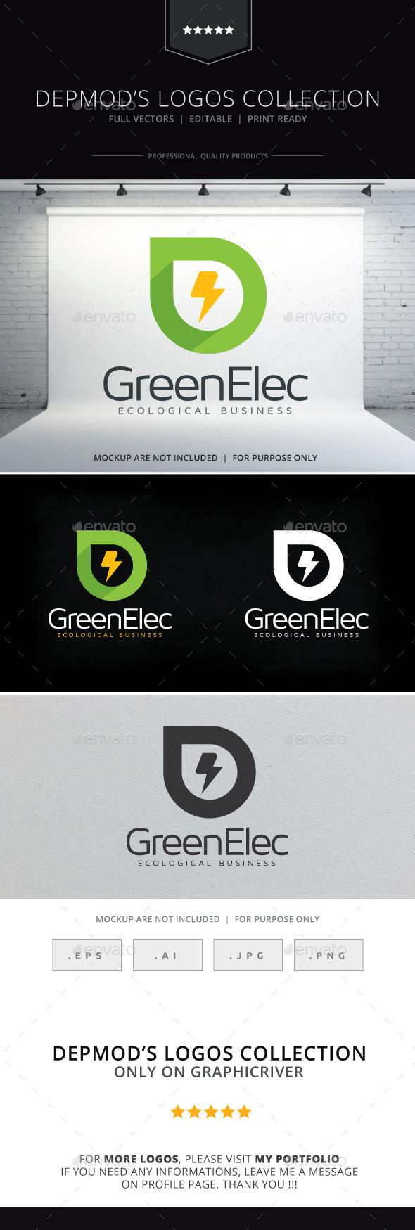 GraphicRiver Green Elec Logo 10084122