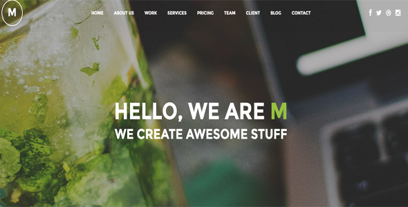 M - Creative Multi Purpose WP One Page Theme
