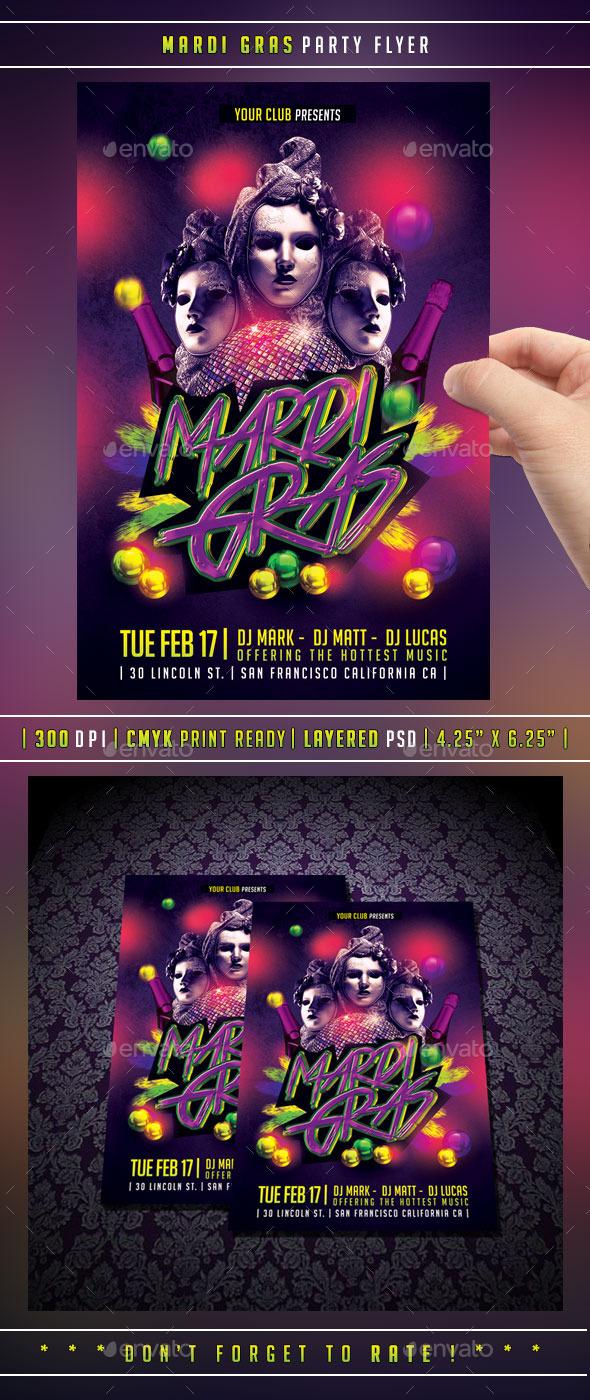 GraphicRiver Mardi Gras Carnival Flyer 10061837