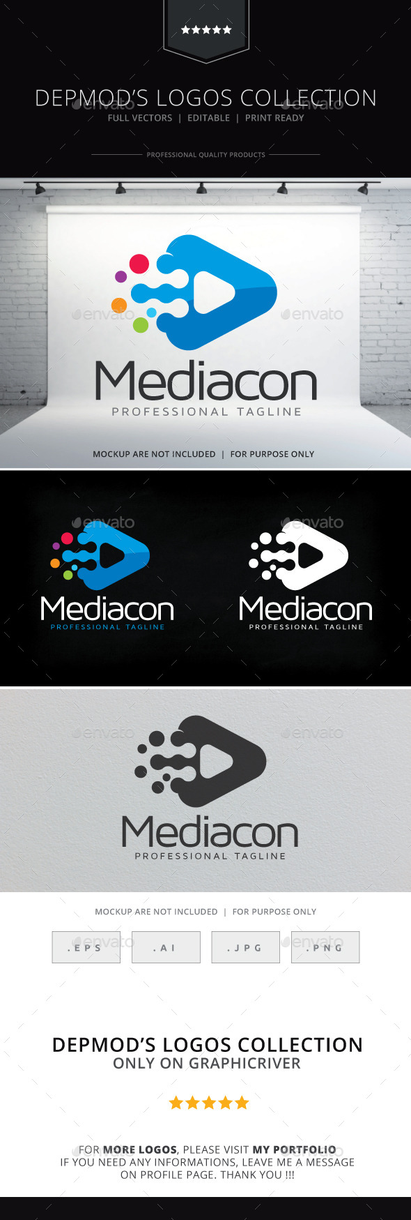 GraphicRiver Mediacon Logo 10084374