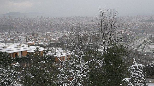 Snowy Day At Istanbul 2