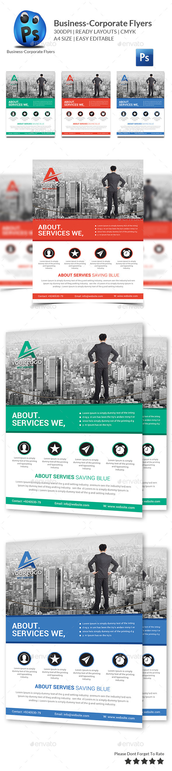 GraphicRiver Corporate Business Flyer Template 10084674