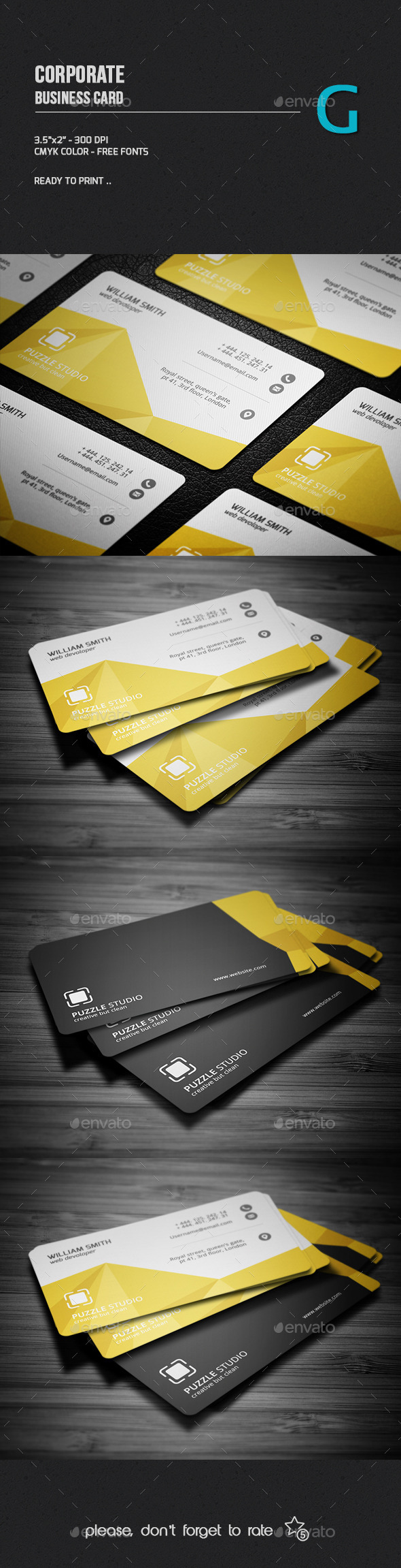 GraphicRiver Corporate Business Card 10084824