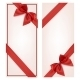 Gift Card with Red Ribbon and Bow - GraphicRiver Item for Sale