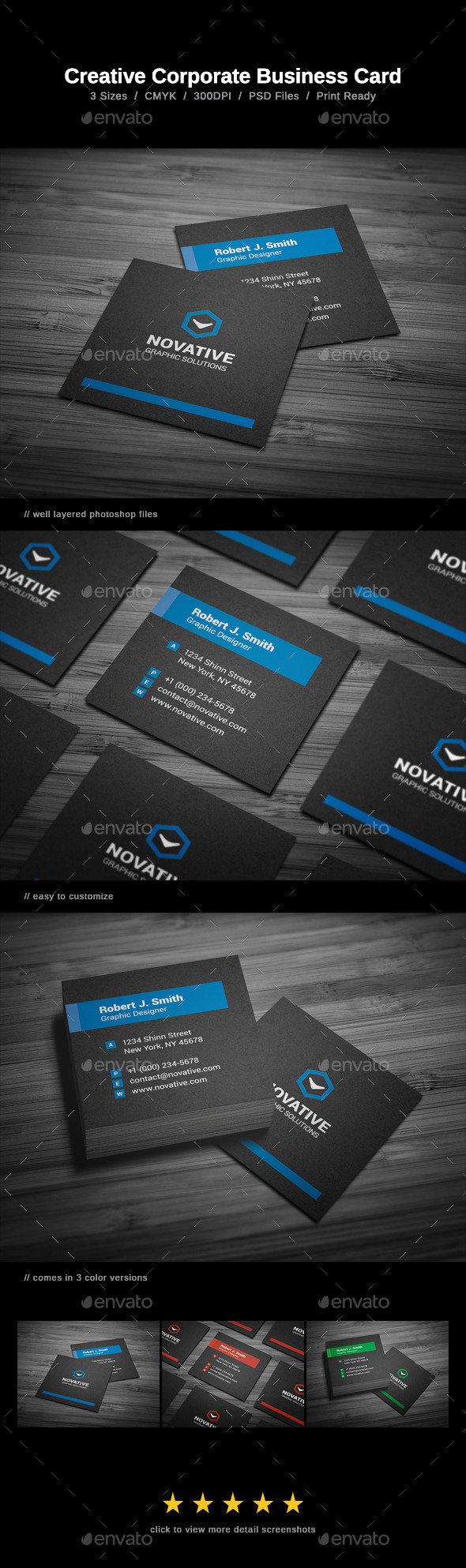GraphicRiver Creative Corporate Business Card 10085161