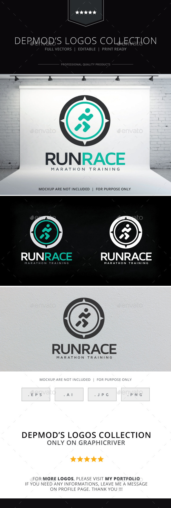GraphicRiver Run Race Logo 10085378