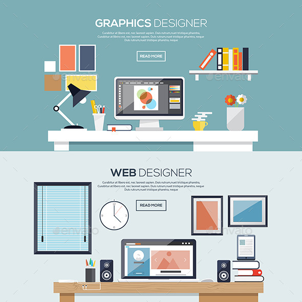 GraphicRiver Flat Designed Banners 10085937