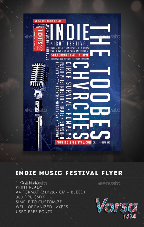 GraphicRiver Indie Festival Music Flyer 10030145