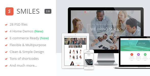 Smiles - Responsive Multi-purpose PSD Template - Corporate PSD Templates