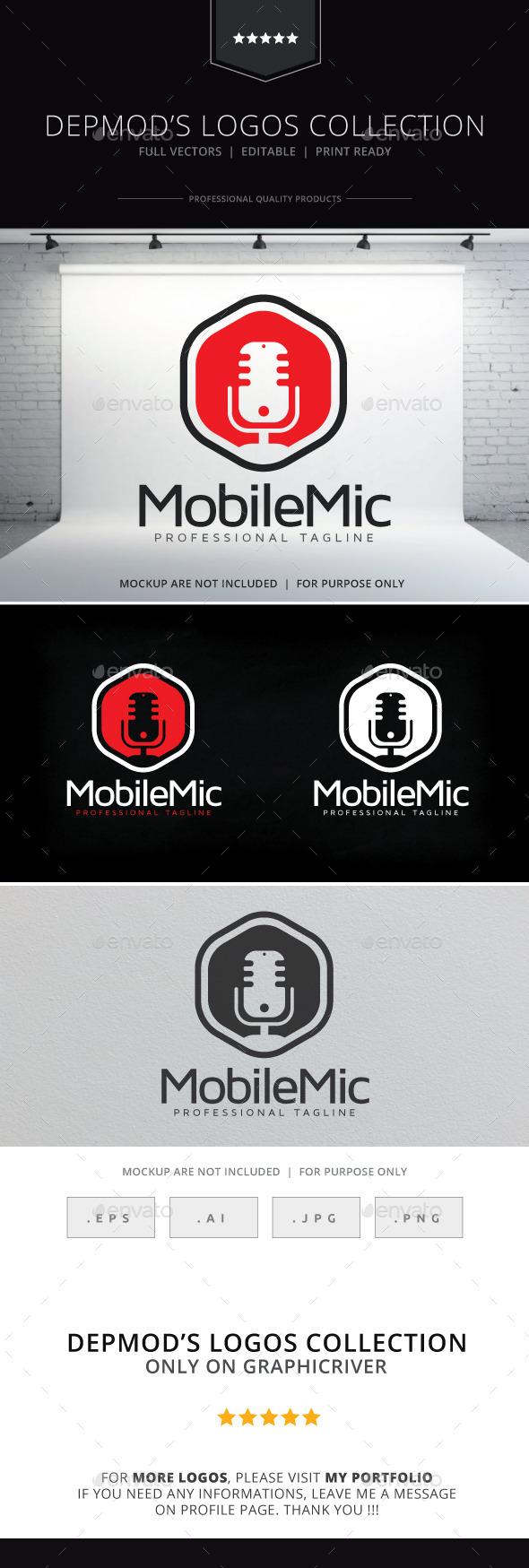 GraphicRiver Mobile Mic Logo 10086245