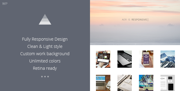 ThemeForest AER Clean & Light WordPress Theme 9820404