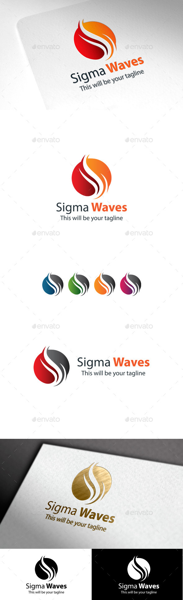GraphicRiver Sigma Waves S Letter Logo 10086423