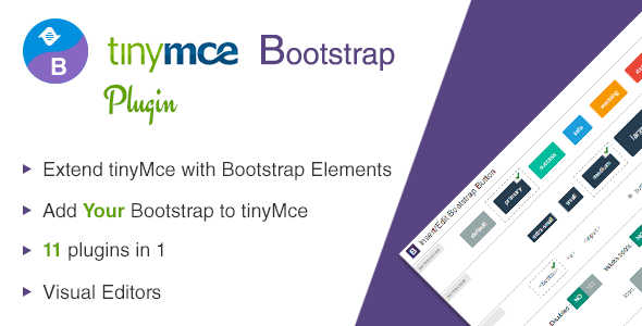 CodeCanyon tinyMce Bootstrap Plugin 10086522