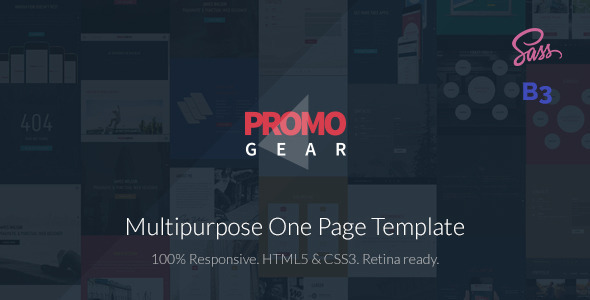 ThemeForest PromoGear Multipurpose OnePage Template 10087188