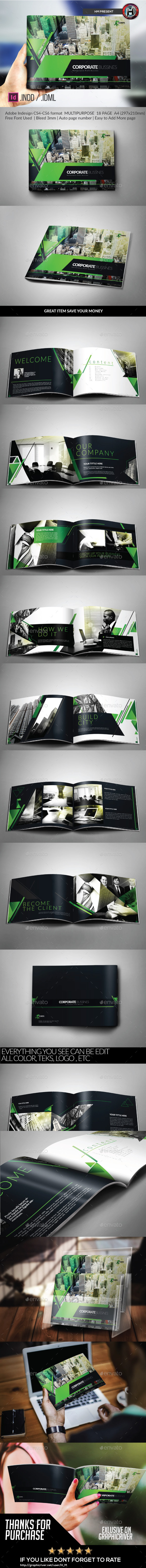 GraphicRiver Multipurpose Modern Corporate Geometris Brochure 10087586