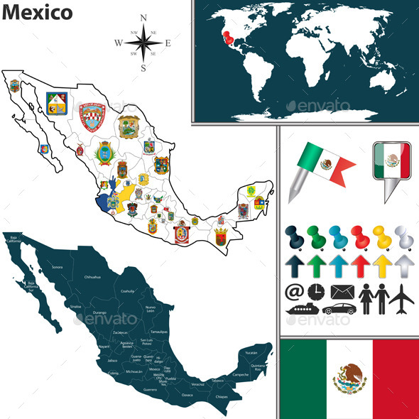 GraphicRiver Map of Mexico 10087672