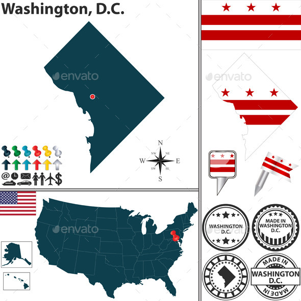GraphicRiver Map of Washington D.C USA 10087699