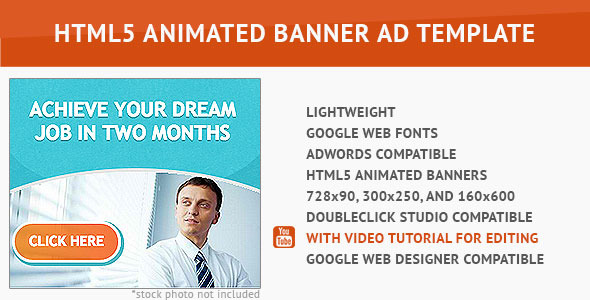 CodeCanyon Best Job HTML5 Animated Banner 10087839