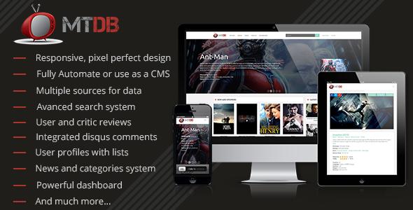 MTDb - Ultimate Movie&TV Database - CodeCanyon Item for Sale