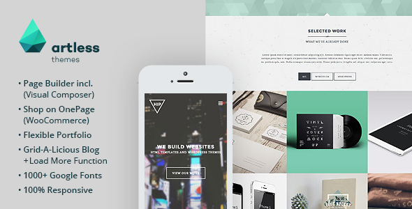 ThemeForest Hip Creative One Page Wordpress Theme 10088033