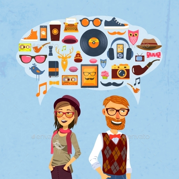 GraphicRiver Hipster Speech Bubble 10088460