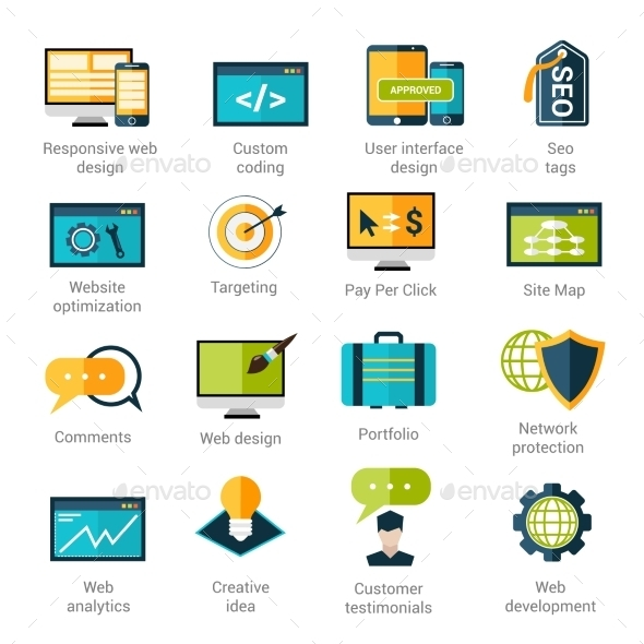 GraphicRiver Web Development Icons Set 10088514