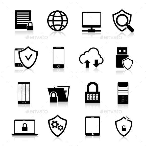GraphicRiver Data Protection Icons 10088515