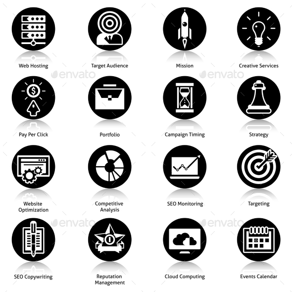GraphicRiver Seo Icons Black 10088575