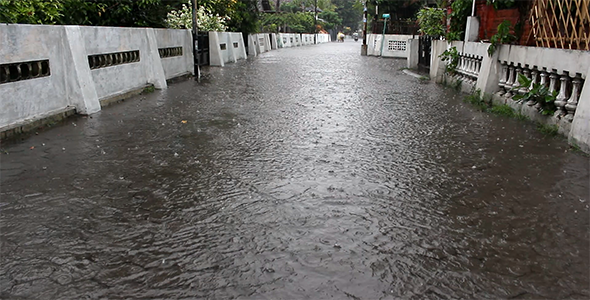 Flooded Street and Rain 1