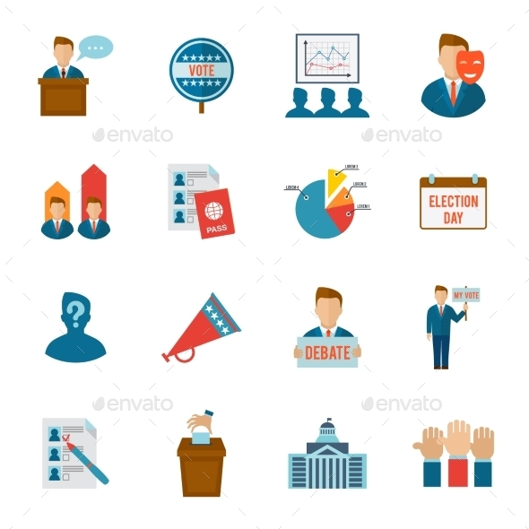 GraphicRiver Election Icon Flat 10088581