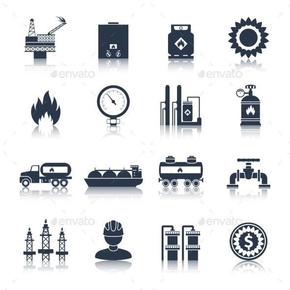 Gas Icons Black