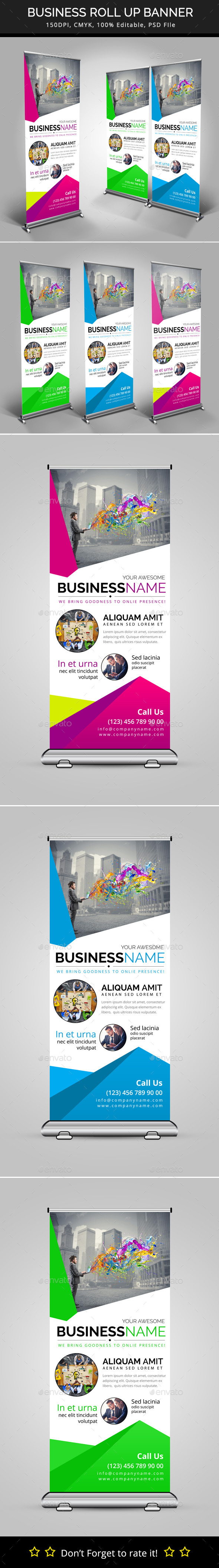 GraphicRiver Business Roll Up Banner 10088648