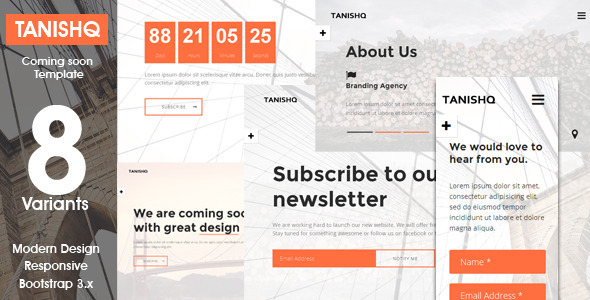 ThemeForest Tanishq Responsive Coming Soon Template 10088652