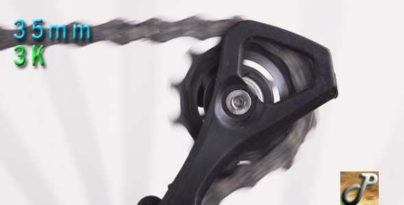Bicycle Rear Derailleur In Motion