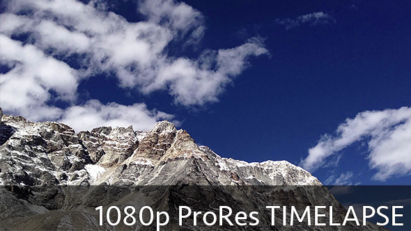 VideoHive Fast Moving Clouds in Mountains #2 10088809