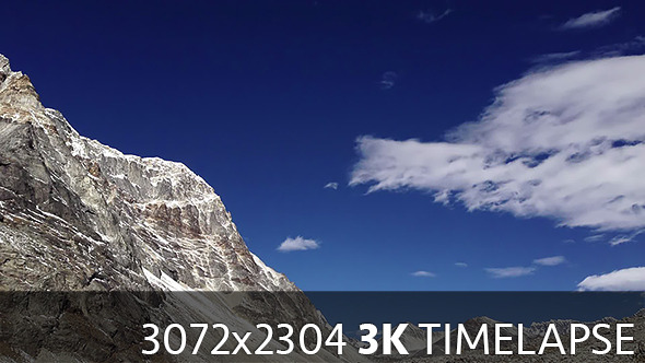 VideoHive Fast Moving Clouds in Mountains #2 10088867