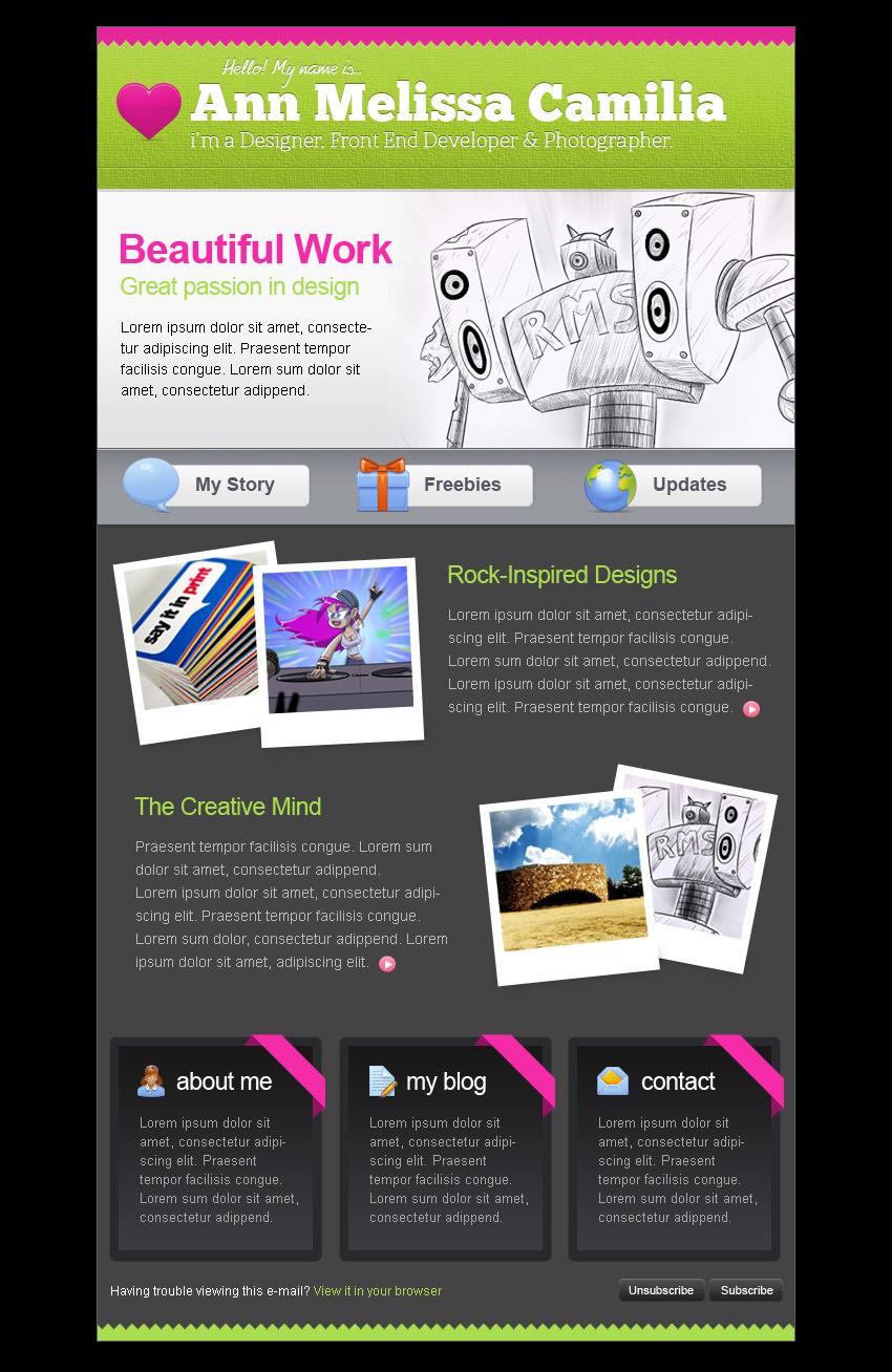 Creative Portfolio HTML Email Template