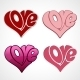 Valentines Card with Love Lettering - GraphicRiver Item for Sale