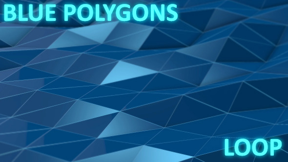 VideoHive Blue Polygons 10088972