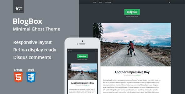 ThemeForest BlogBox Responsive & Bold Ghost Theme 10089095