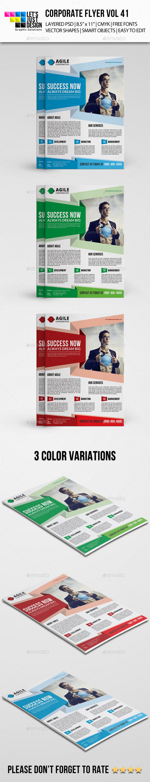 GraphicRiver Corporate Flyer Template Vol 41 10089141