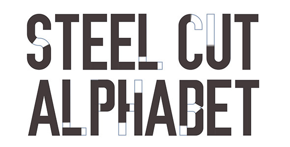 Steel Cut Alphabet (Titles)
