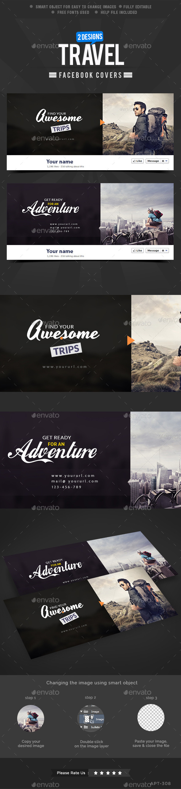 GraphicRiver 2 Travel Facebook Covers 10089273