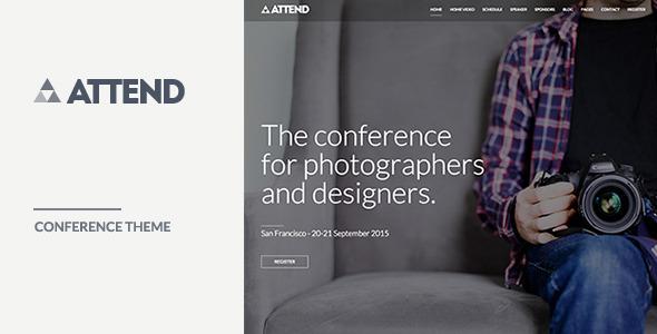 Attend Conference WordPress Theme