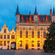 Cityscape with the picturesque Christmas Burg Square in Bruges - PhotoDune Item for Sale