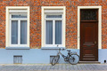 Scenic city view of Bruges street with bike - PhotoDune Item for Sale
