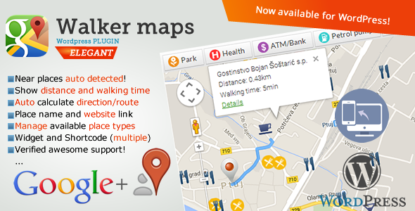 CodeCanyon Google Maps Neighborhood Walker for Wordpress 10050947