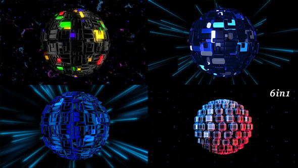 VideoHive Techno Orb 6-Pack 10089735